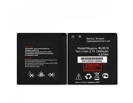 Аккумулятор для Fly Stratus 8 FS408 BL8016 1300mAh