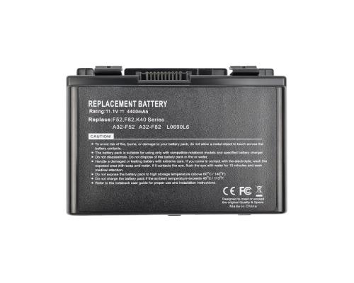 Аккумулятор для ноутбука Asus F82/K50/K40/K51/K60/K70 (A32-F82,A32-F52) 4400mAh Vixion
