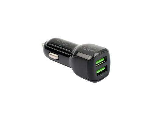 Автомобильное зарядное устройство 2USB 2.1A + micro USB кабель Vixion U10m