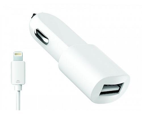 Автомобильное зарядное устройство USB Olmio 2.1A + lightning кабель