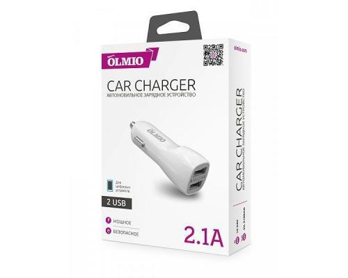 Автомобильное зарядное устройство 2USB Olmio 2.1A