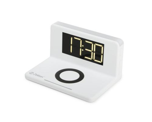 Беспроводное зарядное устройство с часами Zetton
