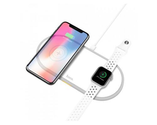 Беспроводное зарядное устройство для iPhone и iWatch Hoco CW20
