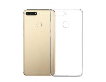 Силиконовый чехол для Huawei Y7 Prime плотный прозрачный