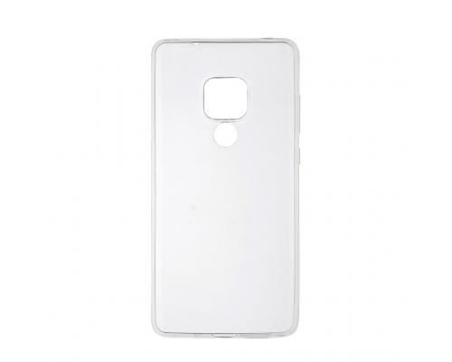 Силиконовый чехол для Huawei Mate 20 плотный прозрачный