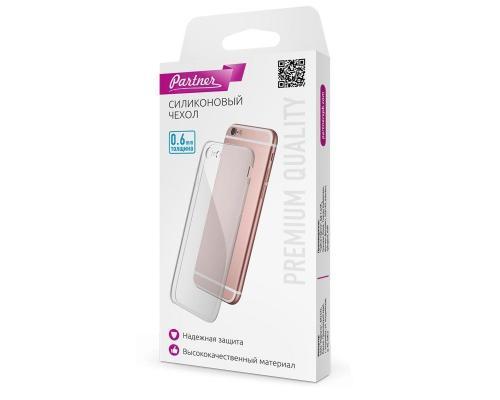 Силиконовый чехол для iPhone 7/8, 0.6 мм, прозрачный, Partner