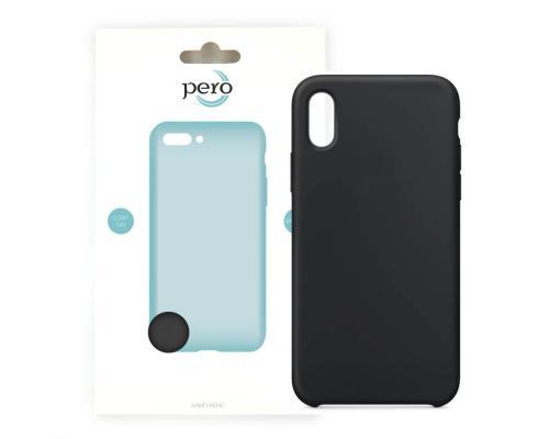 Силиконовый чехол для iPhone X Pero Soft-Touch