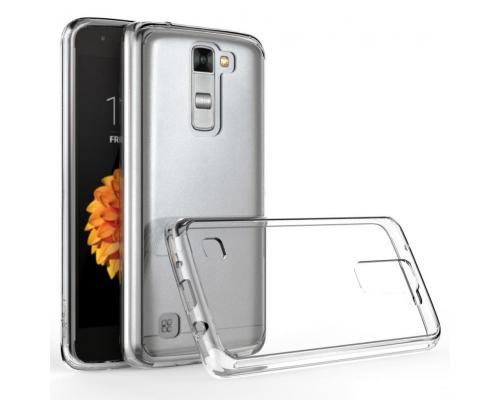 Силиконовый чехол для LG K7 плотный прозрачный