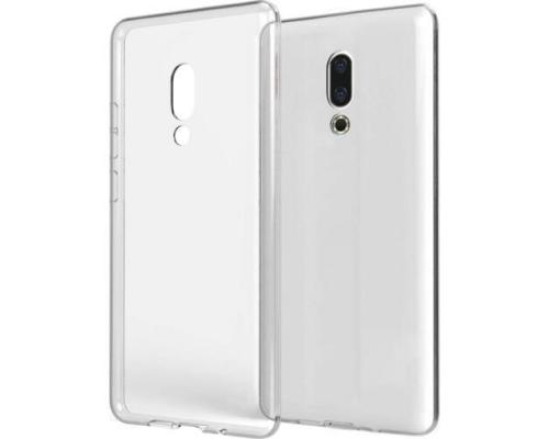 Силиконовый чехол для Meizu 16 Plus плотный прозрачный