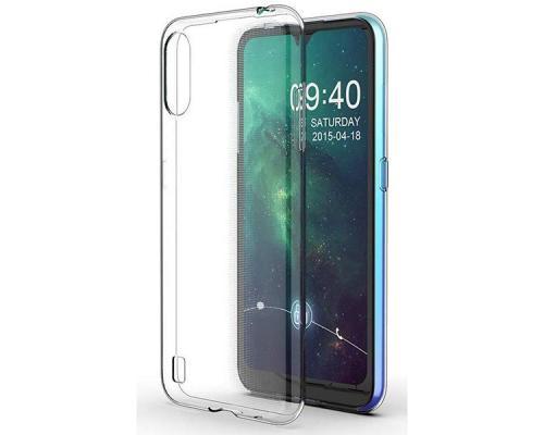 Силиконовый чехол для Samsung A01 плотный прозрачный