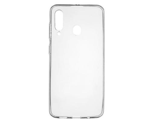 Силиконовый чехол для Samsung A60 плотный прозрачный