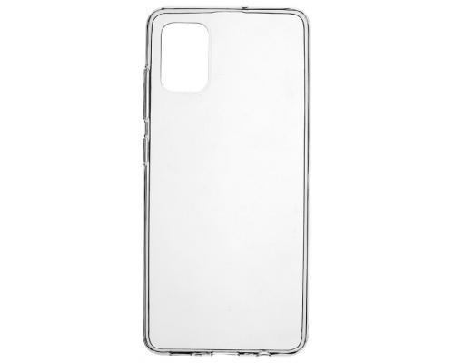 Силиконовый чехол для Samsung A51 плотный прозрачный