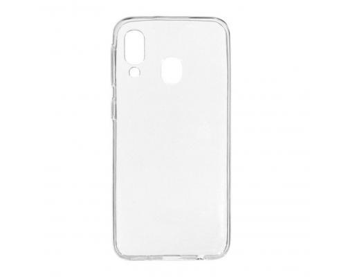 Силиконовый чехол для Samsung A40 плотный прозрачный