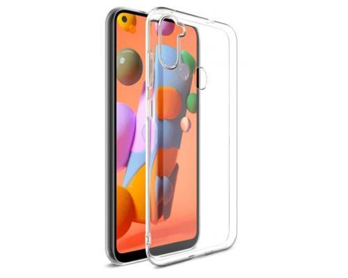 Силиконовый чехол для Samsung A11 плотный прозрачный