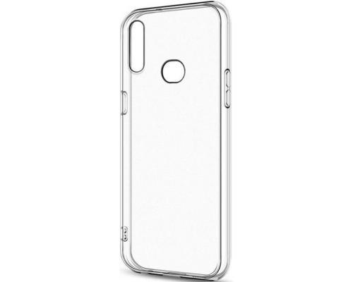Силиконовый чехол для Samsung A10s плотный прозрачный