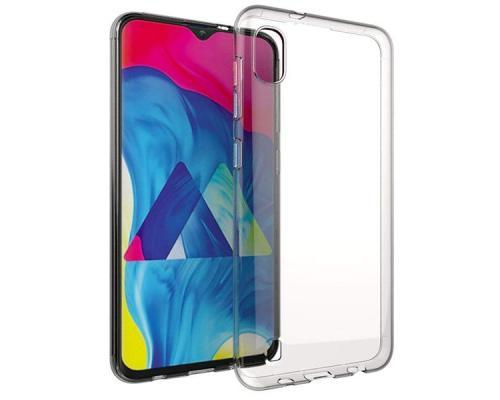 Силиконовый чехол для Samsung A10 плотный прозрачный