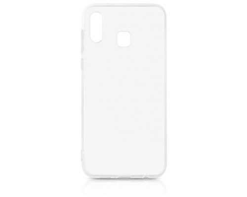Силиконовый чехол для Samsung A20/A30 плотный прозрачный