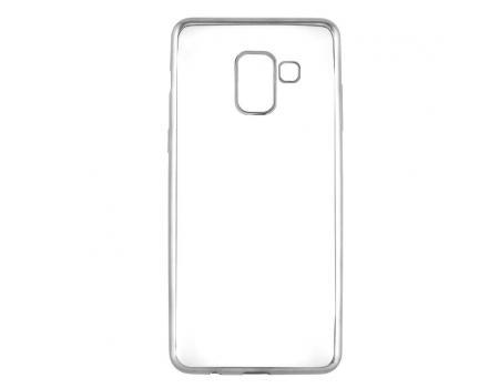 Силиконовый чехол для Samsung Galaxy A8 плотный прозрачный