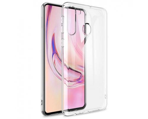Силиконовый чехол для Samsung A21 плотный прозрачный