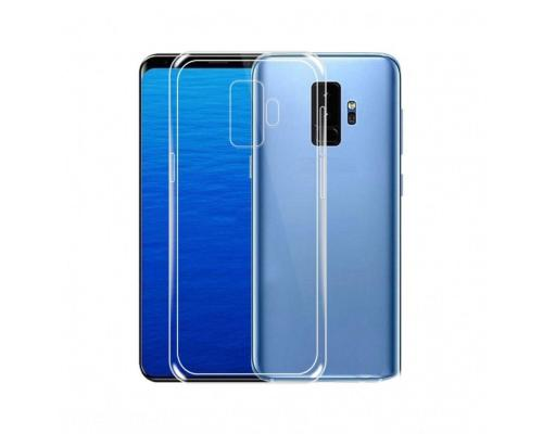 Силиконовый чехол для Samsung Galaxy J8 2018 плотный прозрачный