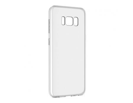 Силиконовый чехол для Samsung Galaxy S8 Plus плотный прозрачный