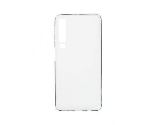 Силиконовый чехол для Samsung A7 2018 плотный прозрачный