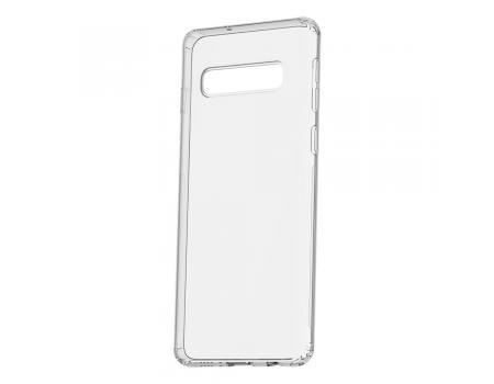 Силиконовый чехол для Samsung S10 плотный прозрачный