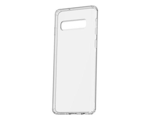 Силиконовый чехол для Samsung S10 Plus плотный прозрачный