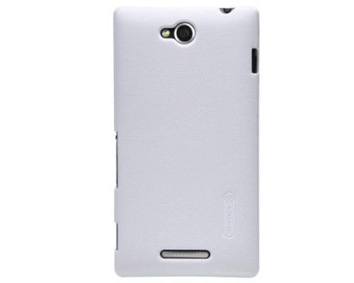 Чехол-накладка Nillkin для Sony Xperia C (S39H) белый