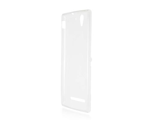 Силиконовый чехол для Sony Xperia C3 плотный прозрачный