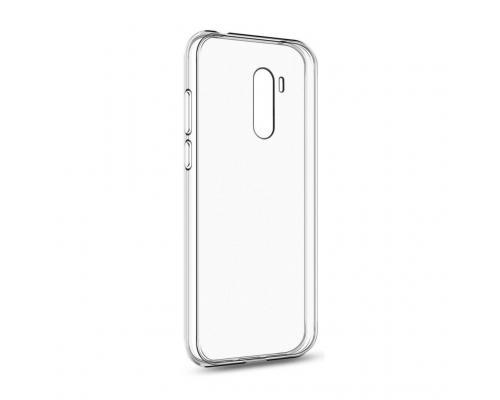Силиконовый чехол для Xiaomi Pocophone F1 плотный прозрачный