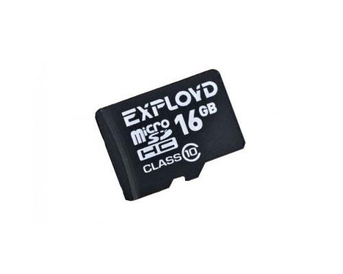 Карта памяти MicroSDHC 16GB Class 10 Exployd без адаптера