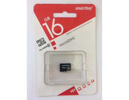 Карта памяти MicroSDHC 16GB Class 6 Smart Buy без адаптера