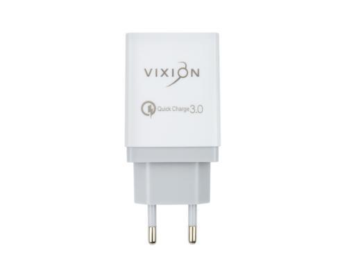 Сетевое зарядное устройство 2USB 2.1A QC3.0 Vixion H3
