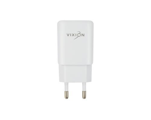 Сетевое зарядное устройство 2USB 1.2A + microUSB кабель Vixion L2m