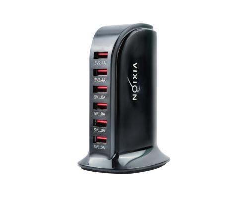 Сетевое зарядное устройство Quick Charger 25W 6USB Vixion H5