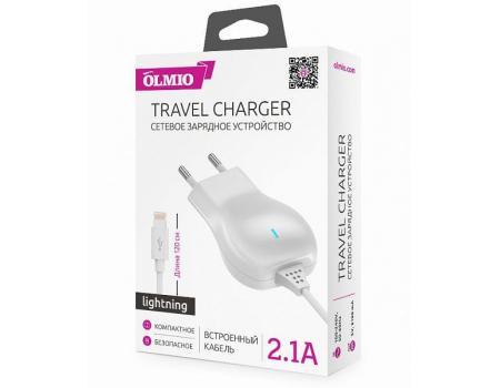 Сетевое зарядное устройство для iPhone 2.1А, Olmio