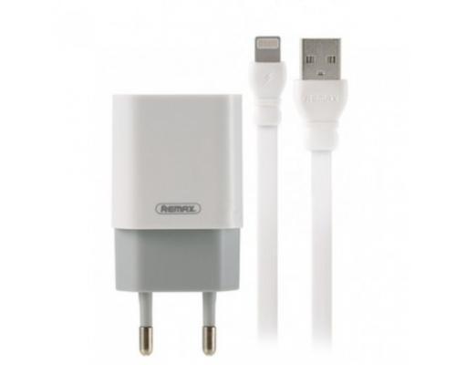 Сетевое зарядное устройство Remax RP-U14 + кабель Lightning