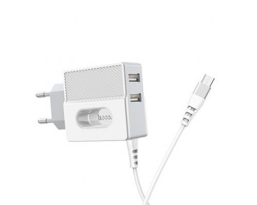 Сетевое зарядное устройство Hoco C75 2.4А microUSB