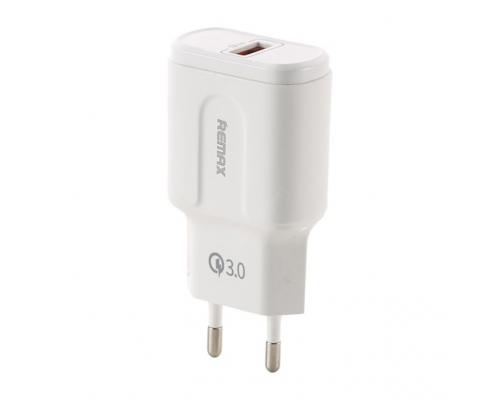 Сетевое зарядное устройство USB с быстрой зарядкой Remax RP-U16 QC 3.0