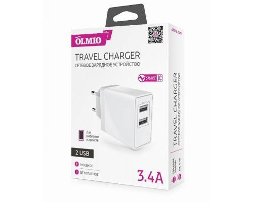 Сетевое зарядное устройство USB Olmio 3.4А
