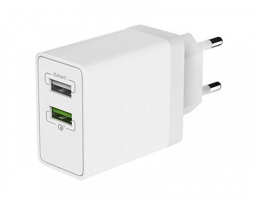Сетевое зарядное устройство USB Olmio QC 3.0