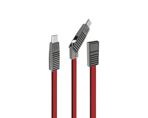 USB кабель 3 в 1 microUSB + Type-C + Lightning Remax RC-072th