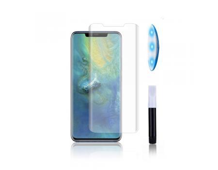 Защитное стекло 3D для Huawei Mate 20 Lite с гелем и лампой