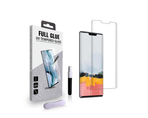 Защитное стекло 3D для Huawei Mate 30 Pro с гелем и лампой