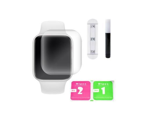 Защитное стекло 3D для Apple Watch 4 40 мм с гелем и лампой