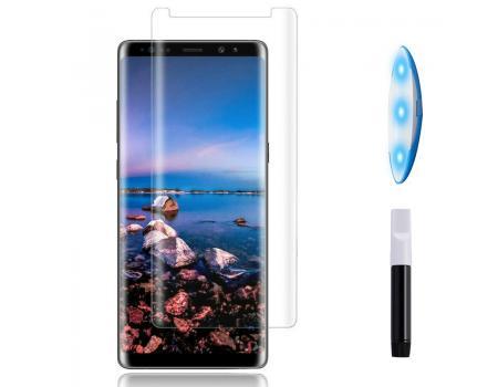 Защитное стекло 3D для Samsung Note 8 с гелем и лампой