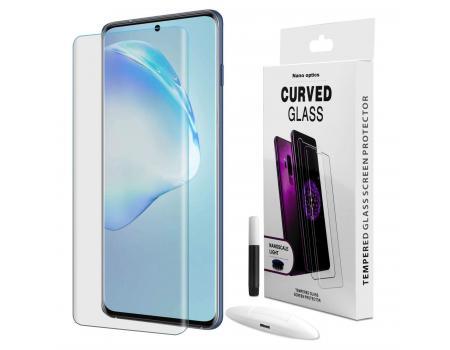 Защитное стекло 3D для Samsung S20 с гелем и лампой