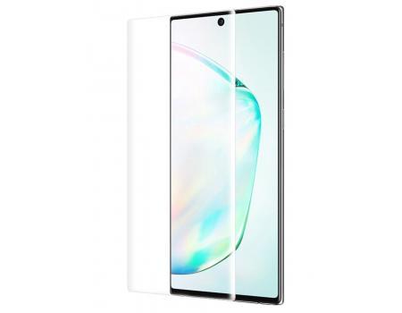 Защитное стекло 3D для Samsung Note 10 Lite с гелем и лампой