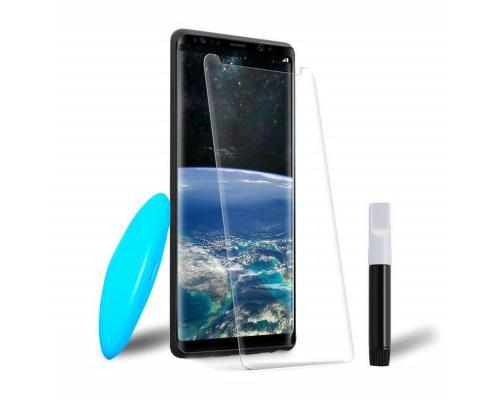 Защитное стекло 3D для Samsung S8 Plus с гелем и лампой